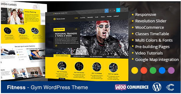 Fitness WordPress Theme eCommerce