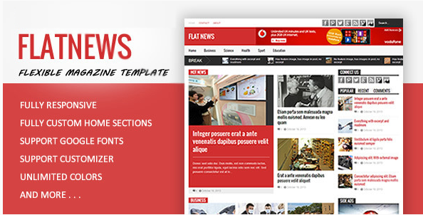 FlatNews - Magazine HTML Template