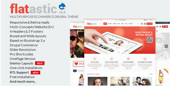 Flatastic - Multipurpose eCommerce Drupal Theme