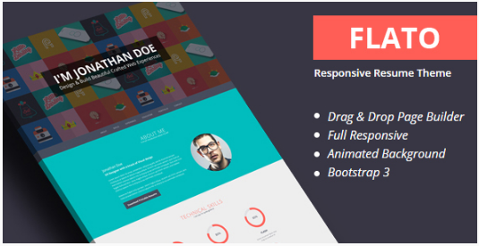 Flatoo - vCard, Resume, Personal WordPress Theme