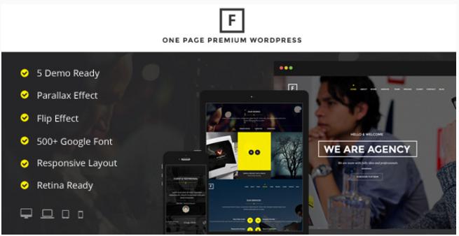 Flip - Flipping Page & One Page WordPress Theme