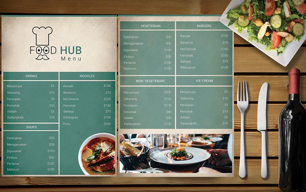 FoodHub – Restaurant Menu PSD