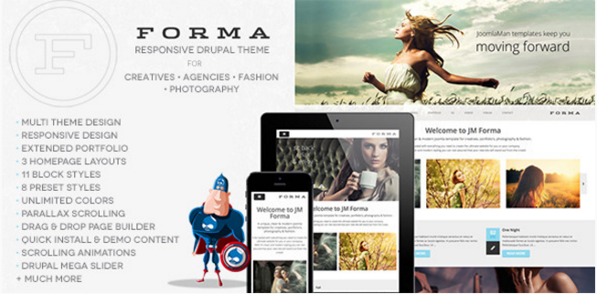 Forma, Creative, Fashion, Photogrpahy Drupal Theme