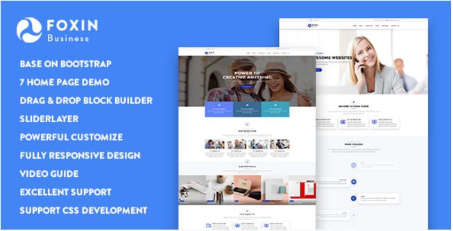 Foxin - Responsive Business Drupal 8 Theme