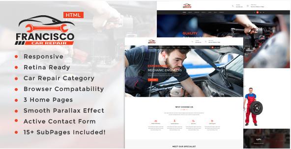 Francisco Auto Mechanic & Car Repair Template