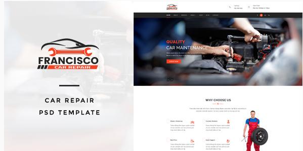 Francisco  Car Repair PSD Template