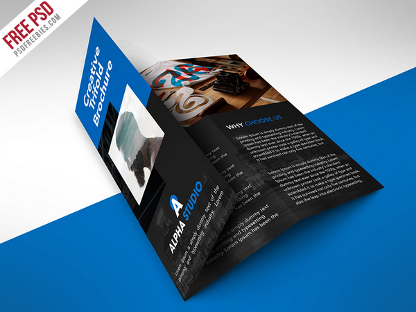 Freebie  Creative Agency Trifold Brochure Free Psd Template