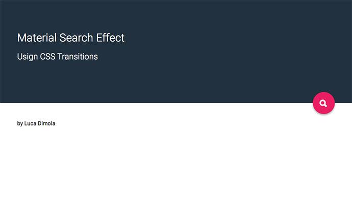 Fullscreen Search Transition