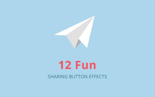 Fun Sharing Button Effects