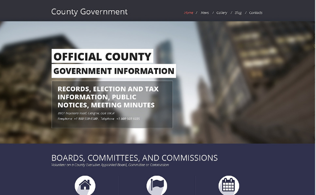 Political Bootstrap Website Templates