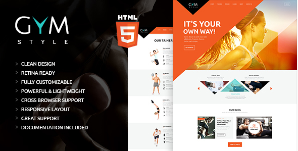 GYM Sport & Fitness Club HTML Theme