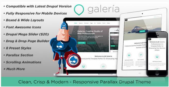 Galeria, Responsive Creative Drupal Theme