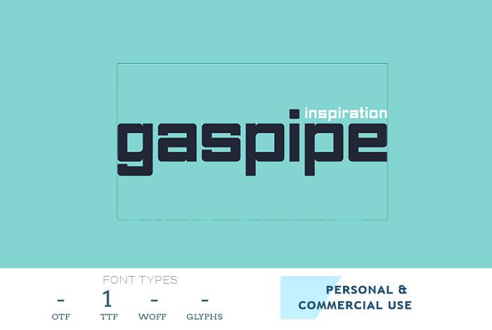 Gaspipe Font – Makhina