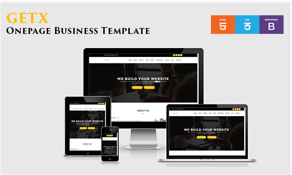 GetX - Onepage Business Template