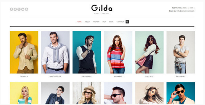Gilda - Fashion Model Agency WordPress CMS Theme