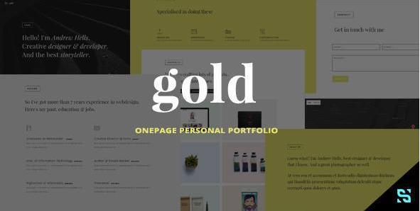 Gold - Onepage Personal Portfolio