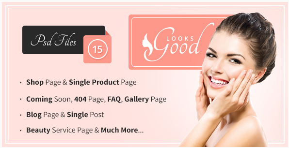 Good Looks - Beauty Salon & Spa PSD Template