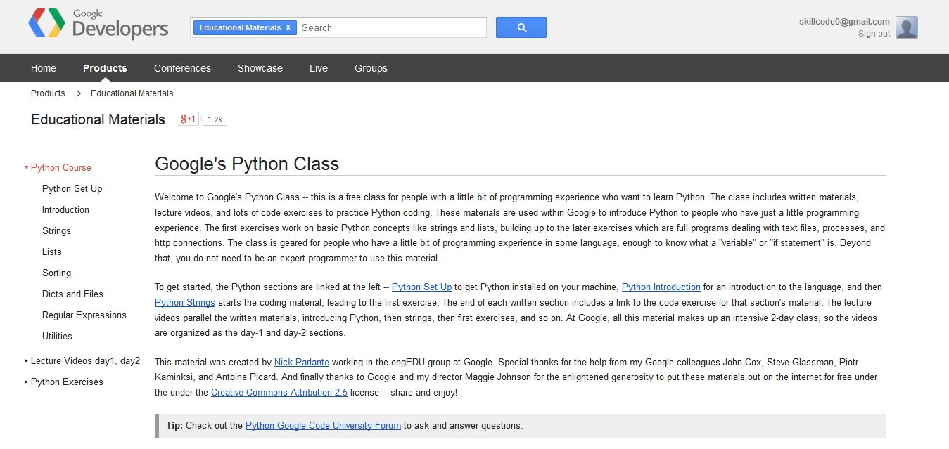 Googles-Python-Class-Educational-Materials-—-Google-Developers