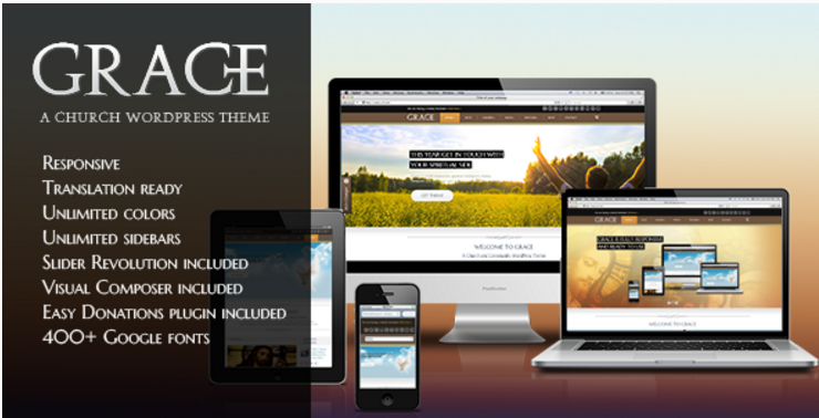 Grace - A Responsive Church WordPress Theme