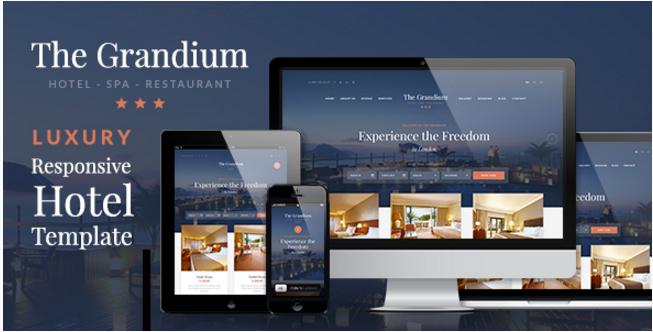Grandium - Responsive Hotel WordPress Themes