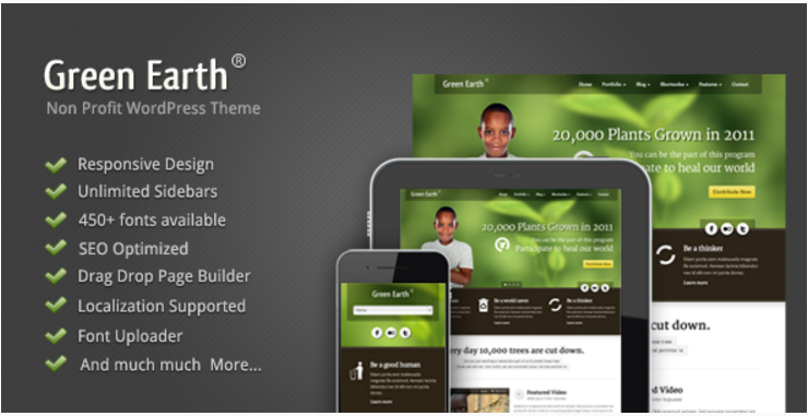 Green Earth - Environmental Themes For WordPress