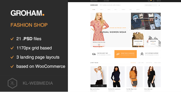 Groham - Fashion eCommerce PSD template