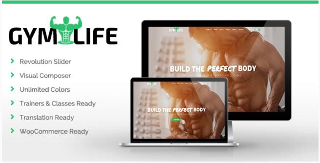 GymLife - Gym & Fitness WordPress Theme