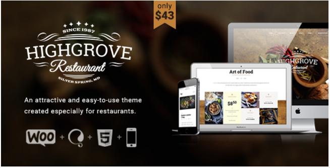 HG Restaurant - Responsive WordPress Theme