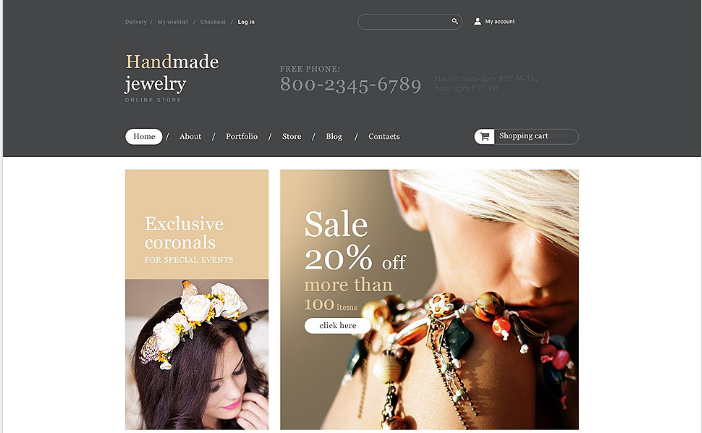 Handmade Jewelry Store WooCommerce Theme