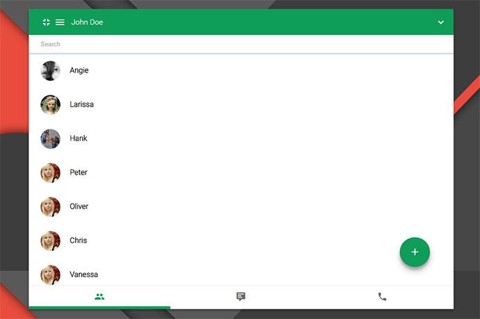 Hangouts app