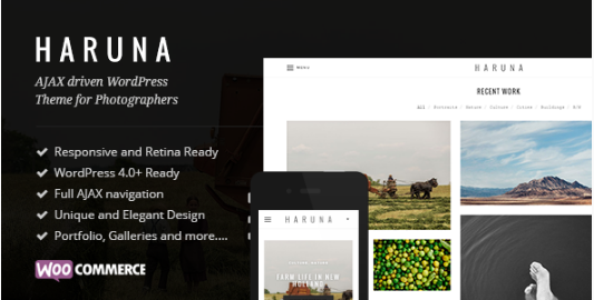 Haruna - AJAX Photography WordPress Theme