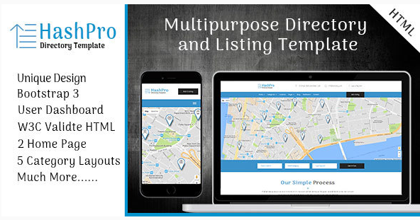 HashPro Listing and Directory Template
