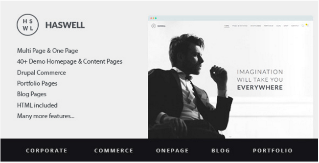Haswell - Multipurpose One&MultiPage Drupal Theme