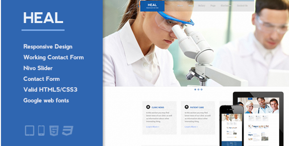 Heal - Responsive Medical and Health HTML Template