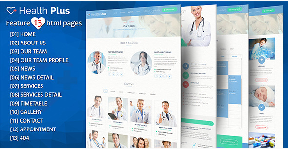 Health Plus – Health & Clinic HTML Template