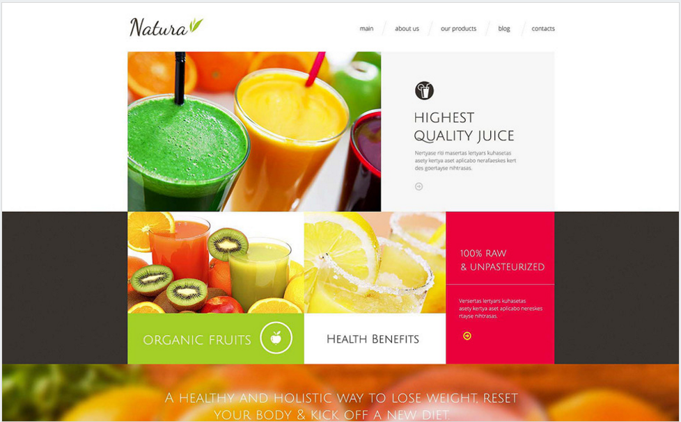 Healthy Tasty Drink Drupal Template