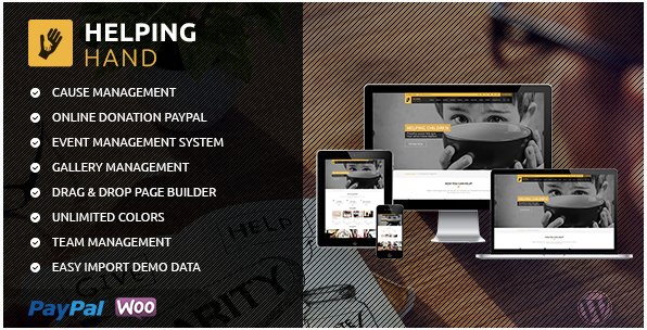 HelpingHand - Charity/Fundraising WordPress Theme