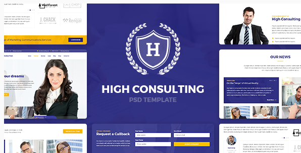 High Consulting - Business, Consulting and Finance PSD Template