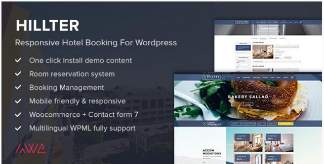 Hillter - Responsive Hotel WordPress Themes