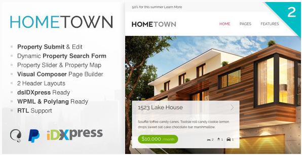 Hometown - WordPress Real Estate Themes