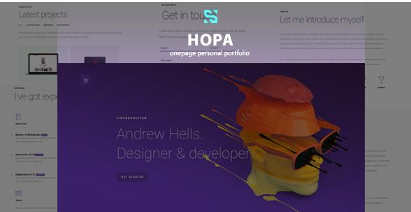 Hopa - Onepage Personal Portfolio