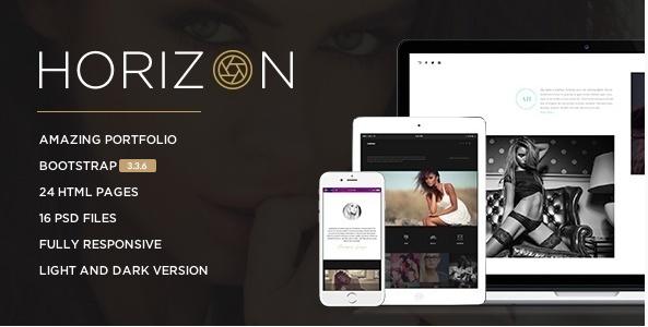 Horizon - Responsive Photography Template