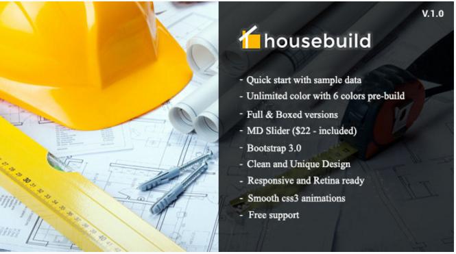 Housebuild - Construction Drupal Theme