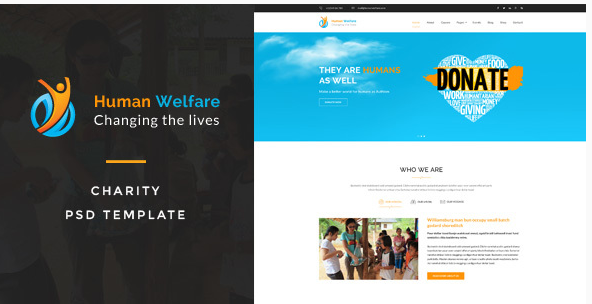 Human Welfare  Charity PSD Template