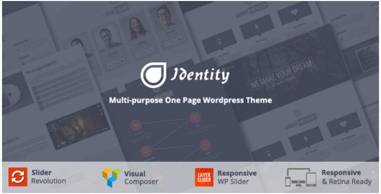 Identity - Multi/One-Page Business WordPress Theme