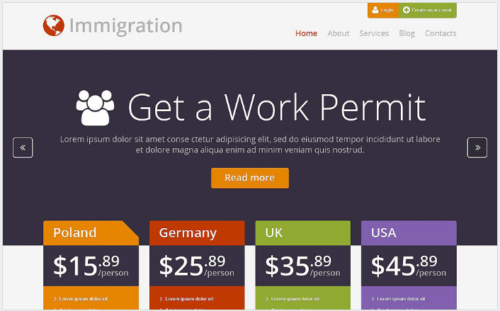 Immigration Consultancy WordPress Theme