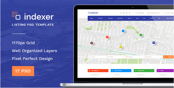 Indexer — Universal Directory Listing PSD Template
