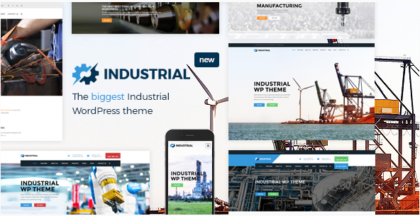 Industrial - Manufacturing WordPress Theme