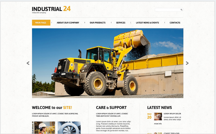 Industrial Responsive WordPress Theme