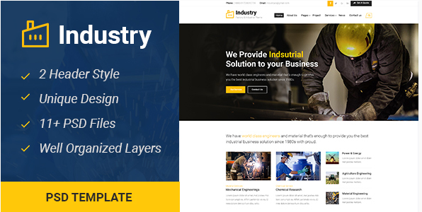Best Business PSD Templates
